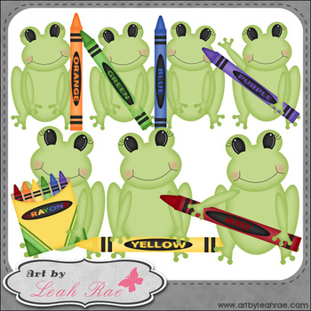 Froggie Learns Colors 1 - Art by Leah Rae Clip Art & Line Art / Digital Stamps