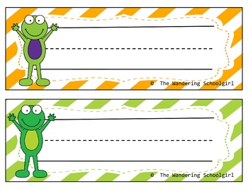 Froggie Name Tags