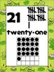Froggie Number Posters ADD ON PACK 21 to 30 {Math}Frog Horizontal Ten Frames