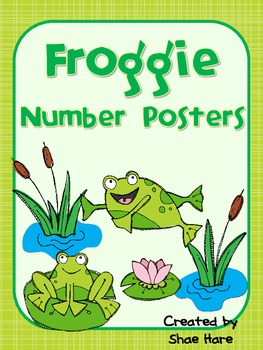 Froggie Number Posters {Common Core Math} Frog Pond