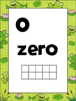 Froggie Number Posters to 30 {Common Core Math} Frog with Horizontal Ten Frames