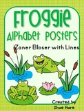 Frog Themed Classroom Alphabet Posters Zaner Bloser Font {Handwriting Lines}