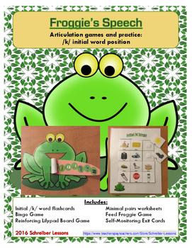 Froggie's Speech Articulation Practice: initial /k/