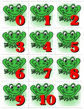 Froggy 0-10 Number Cards