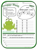 Froggy Addition Math Practice