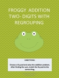 Froggy Addition With Regrouping - Double Digits