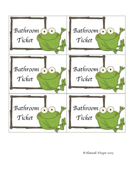 Froggy Bathroom and Water Tickets