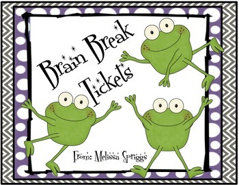 Froggy Brain Break Tickets