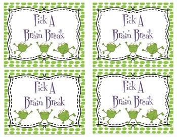 Froggy Brain Break Tickets