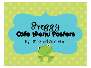 Froggy Cafe Signs