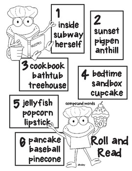 Froggy Chef Roll and Read - Compound Words