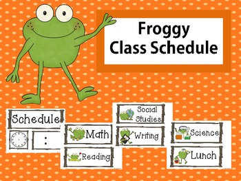 Froggy Class Schedule