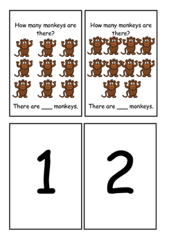 Monkey Counting Task Cards