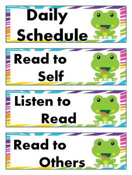 Froggy Daily schedule Cards