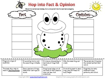 Fact or Opinion Worksheet 1