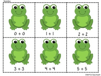 Froggy Facts (Math Fact Matching - Doubles) Common Core Aligned