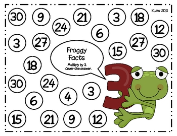 Froggy Facts Multiplication Games