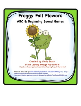 Froggy Fall Flowers ABC and Beginning Sounds Games