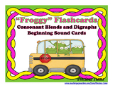 """Froggy"" Flashcards - Consonant Blends and Digraphs Beginning Sound Cards"