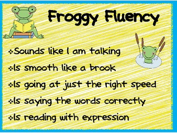 Froggy Fluency Anchor Chart