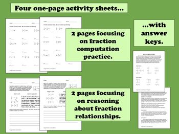 Froggy Fractions - adding/subtracting like denominators task cards + printables