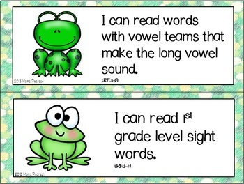 """Frog """"I Can"""" Statements"""