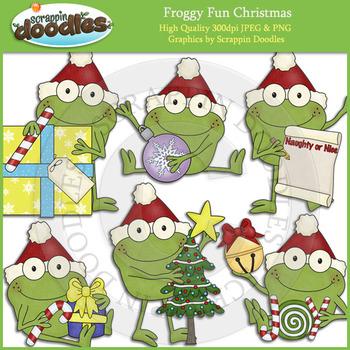 Froggy Fun Christmas Clip Art