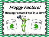 Froggy Factors!  Missing Factors Four-in-a-Row Game