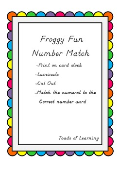 Froggy Fun Number Match