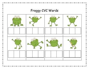 Froggy Fun Print and Go Centers