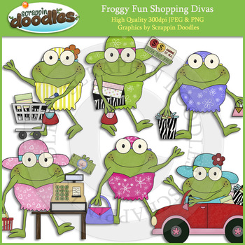 Froggy Fun Shopping Divas
