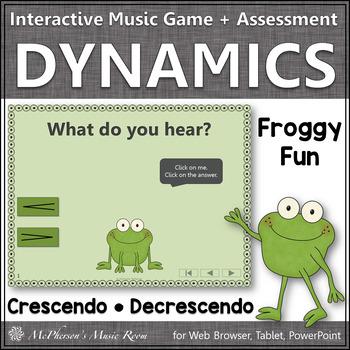 Crescendo and Decrescendo + Assessment Interactive Music Game {Froggy Fun}