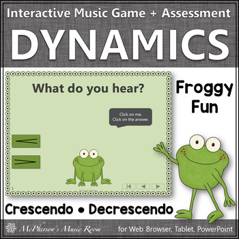Froggy Fun with Crescendo and Decrescendo + Assessment (In