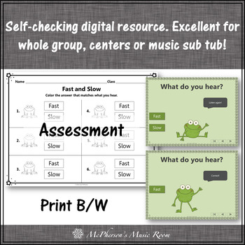 Froggy Fun with Fast and Slow + Assessment (Interactive Music Game)