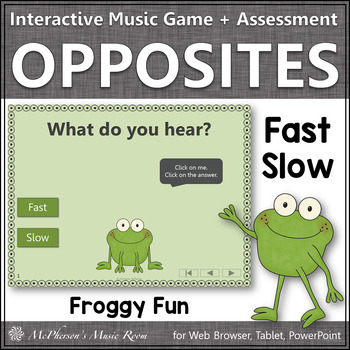 Froggy Fun with Fast and Slow + Assessment (Interactive Mu