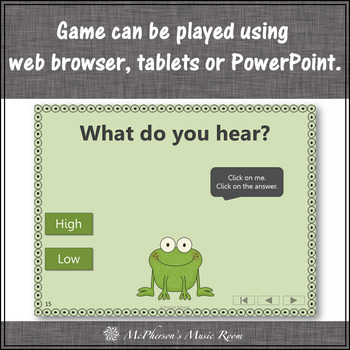 Froggy Fun with High and Low + Assessment (Interactive Music Game)