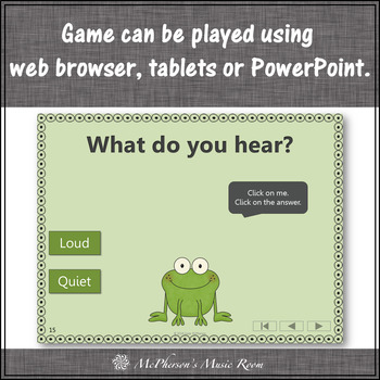 Froggy Fun with Loud and Quiet + Assessment (Interactive Music Game)