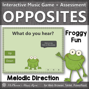 Froggy Fun with Melodic Direction Up Down + Assessment (Interactive Music Game)