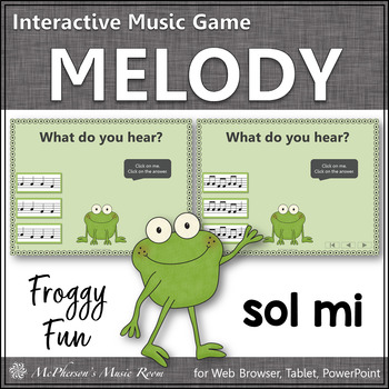 Froggy Fun with Melody - Interactive Music Game {Solfa Sol Mi}