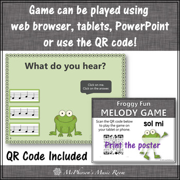 Solfa Sol Mi Interactive Melody Game {Music Game Froggy Fun}