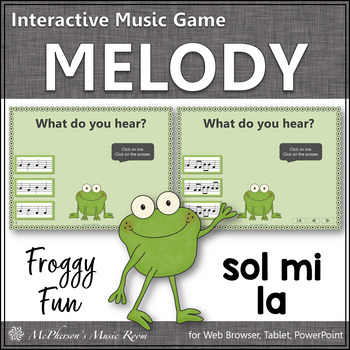 Froggy Fun with Melody - Interactive Music Game {Solfa Sol Mi La}