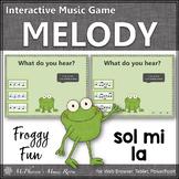 Solfa Sol Mi La Interactive Melody Game {Music Game Froggy Fun}