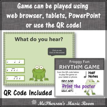 Half Note Interactive Rhythm Game {Music Game Froggy Fun}