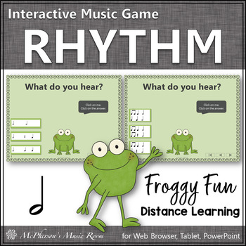 Froggy Fun with Rhythm - Interactive Music Game {Half Note}