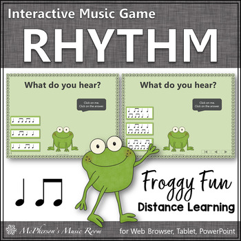 Quarter and Eighth Notes Interactive Rhythm Game {Music Game Froggy Fun}