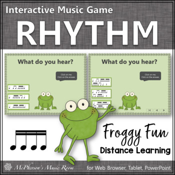 Sixteenth Notes Interactive Rhythm Game {Music Game Froggy Fun}