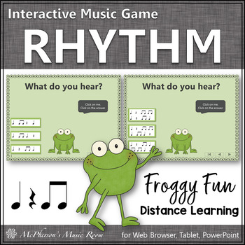 Eighth Notes Interactive Rhythm Game {Music Game Froggy Fun}