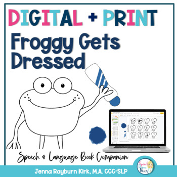 Froggy Gets Dressed: Dot and Go Book Companion (Black and White)