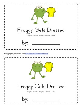 Froggy Gets Dressed Emergent Reader