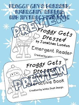 Froggy gets dressed teaching resources teachers pay teachers froggy gets dressed emergent reader and interactive book pronofoot35fo Images